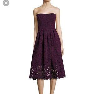 Vera Wang purple lace cocktail dress nwt